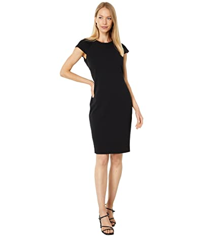Calvin Klein Sheath Dress with Ruched Sleeve Detail