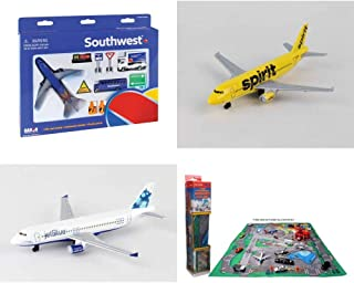 Toy Airplane Playset - Airport Playmat with Three 5.5