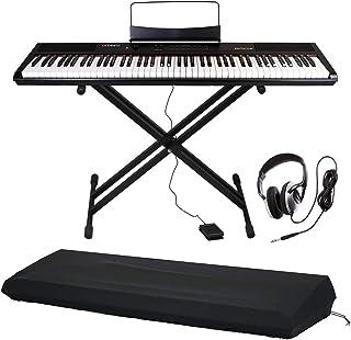 Artesia 電子ピアノ アマゾンオリジナル ライトセット 88鍵 PERFORMER/BK ブラック (サスティンペダル/スタンド/ヘッドフォン/ピアノカバー付属)