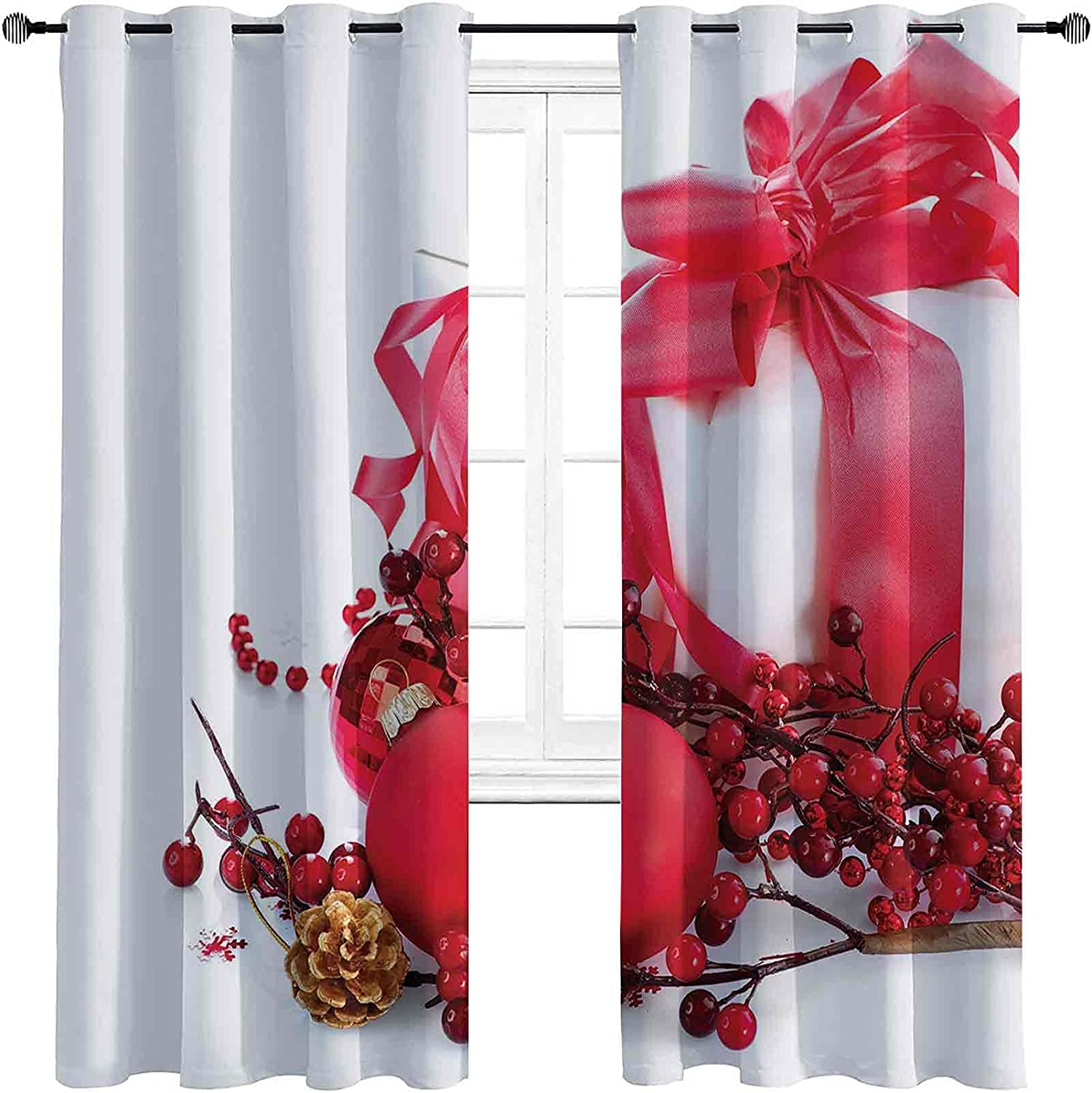 Christmas Bedroom Blackout Curtains New P Berries with Box Year sale Cash special price