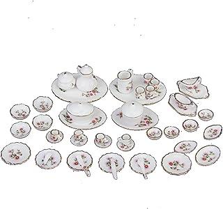 5 Pc 1//12 Casa Delle Bambole In Miniatura Di Porcellana Bianca Piatto Piatto