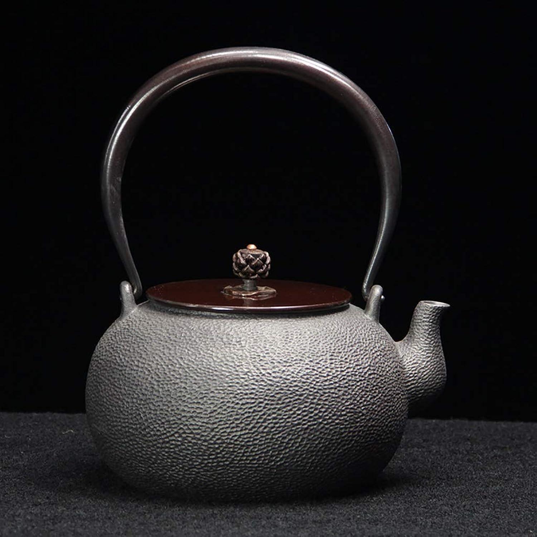 Théière Théière en fonte, bouilloire à thé Tetsubin de style japonais ((1.1L\1.2L\1.3L) Service à thé pour théière non revêtue en fonte faite à la main (Couleur   A)