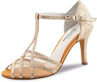 Anna Kern Femmes Chaussures de Danse 870-75 - Brocart Or - 7,5 cm Stiletto