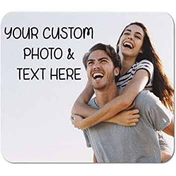 Mouse Pad Custom Personalized Photo Picture & Text Neoprene Office Supplies & Gaming Computer Desk Accessories Square Shape