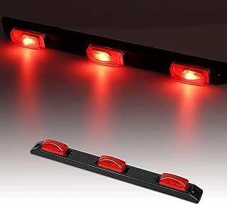 """Catinbow LED Identification Light Bar, 17"""" 3 Light 9 LED Clearance Light Bar Surface Mount Red Side Maker Light Bar Rear Light for Trailer Truck 12V"""
