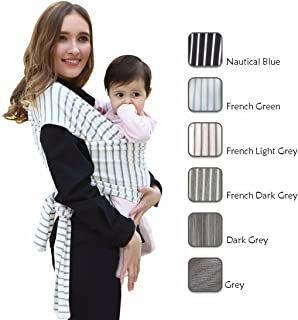 solly baby natural & grey stripe