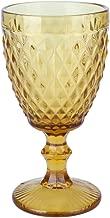 Conjunto Deunto 6 Taças para Água Bico de Abacaxi Lyor Âmbar 260 ml Vidro