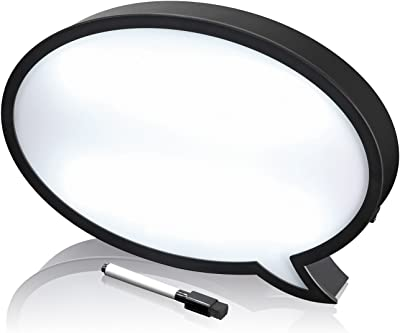 EASYmaxx 04047 Sprechblase | LED-Leuchtschild zum Beschreiben | Batteriebetrieben