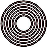 Darice Embossing Essentials Dies, Nesting Circles, 6-Pack