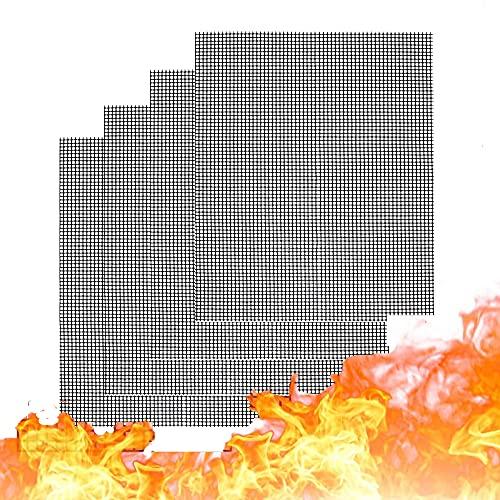 Kamenda Griglia Rete Barbecue Set, Tappetino a Rete Barbecue BBQ Grill Mat Antiaderente per Griglia a Carbone Gas Weber Forno Elettrico(4 Pezzi)