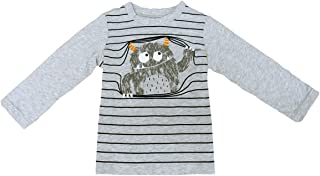 b183f3febea9 First Impressions Baby Boys  Long Sleeve Graphic-Print T-Shirt Slate Htr 24