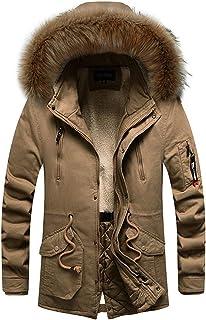 Men's Winter Medium Length Hoodie NDGDA Male Thickened Plus Size Cotton Padded Jacket Coat