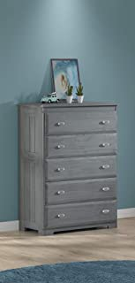 American Furniture Classics five drawer chest, Charcoal Grey