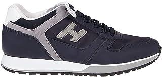 Luxury Fashion | Hogan Men HXM3210Y861N7K948F Blue Leather Sneakers | Spring-summer 20