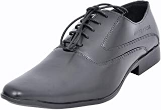 Maplewood Black Genuine Leather Abbey Shoes For Men