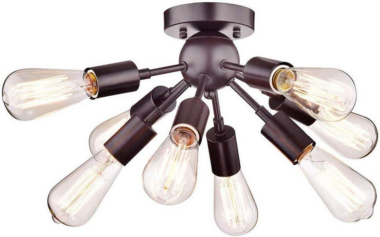 8 flammen Kreative Vintage Kronleuchter Innen Unterputz Deckenbeleuchtung Industrial Pendelleuchte für Küche Restaurant Schlafzimmer Büro Cafe Korridor, E27 Max 40W