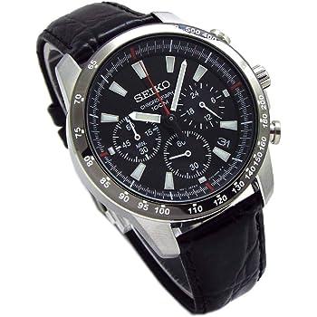 SEIKO クロノグラフ 腕時計 ※本革ベルトセット 国内セイコー正規流通品 ブラック SSB031P1 [並行輸入品]
