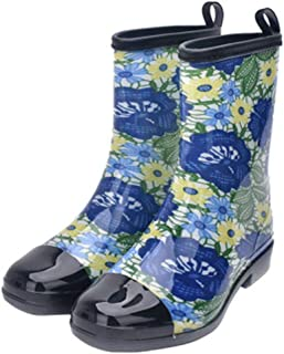 ZOSYNS Damesschoenen, modieus, waterdicht, lange laarzen, rubberen laarzen, antislip, regenlaarzen, outdoor schoenen, 36-41