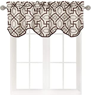 Home Queen Vorhangvolant für Wohnzimmer, kurzer gerader Fal