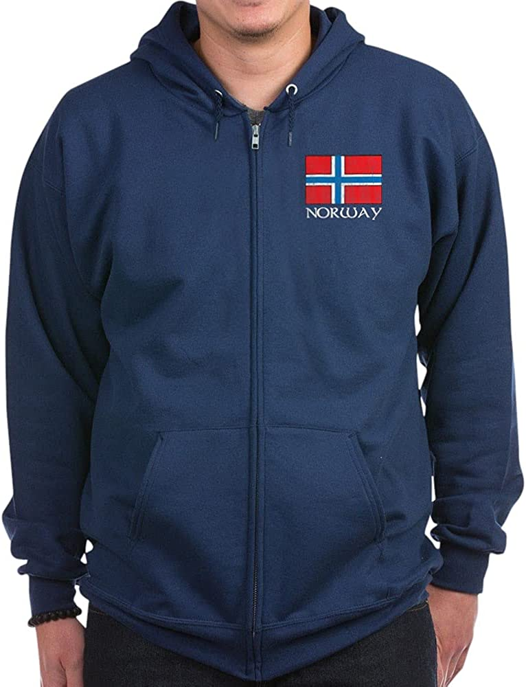 CafePress Direct stock discount Norway Flag dark Zip Hoodie Super sale period limited