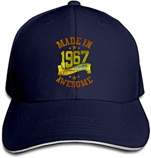 Adults Made In 1967 Awesome 49th Birthday Adjustable Sandwich Hat Cap