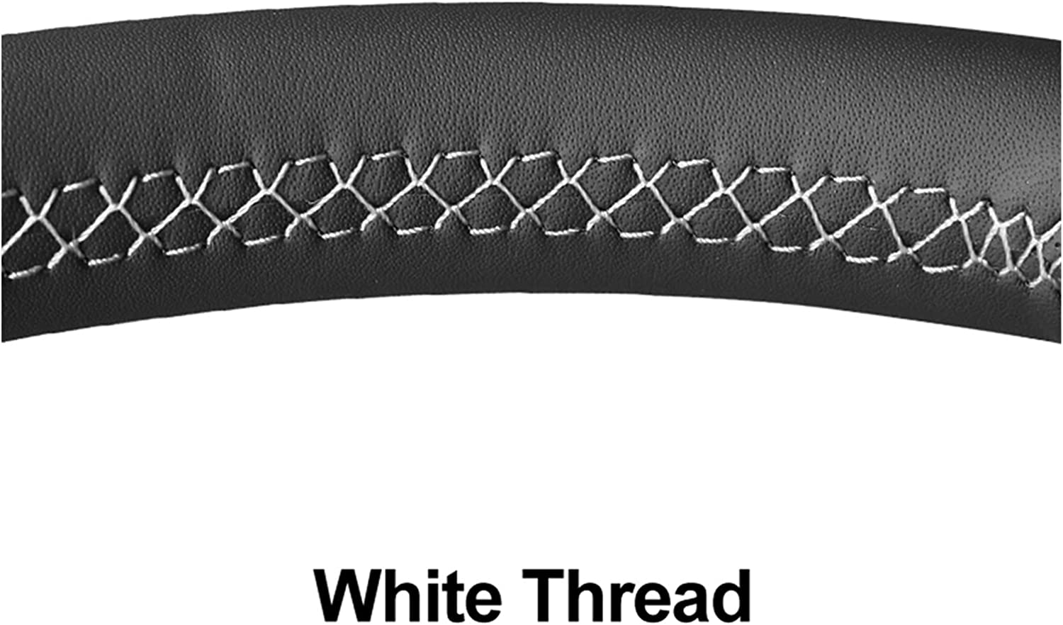 Please 2021 new Blink Hand Sewing Black Wh Popularity Steering PU Leather Artificial