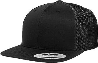 Yupoong Flexfit Flat Bill Trucker Snapback Cap Black