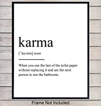 Zen Wall Art Print for Bathroom - Funny Typography Home Decor for Bath and a Great Gift for Yoga and Meditation and Buddha Fans - 8x10 Photo - Unframed