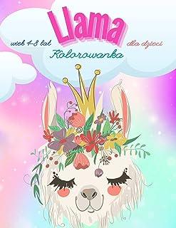Llama Kolorowanka dla dzieci: Baw się świetnie Świetne ilustracje Projekty plastyczne dla dzieci, Zabawna i edukacyjna kol...