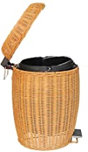 Storage Basket Laundry Basket Rattan/Slim Pedal Bin, Grey (Color : Yellow, Size : 5L)