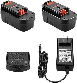 Yabelle - Batería de repuesto para Black and Decker HPB18 HPB18-OPE 244760-00 A1718 FS18FL FSB18 Firestorm (18 V, 3000 mAh, 2 unidades)