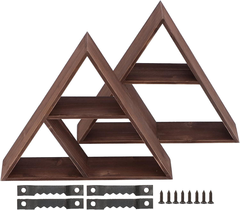Moh Floating Super sale period limited Shelf Wall 2Pcs Rack Display Cheap SALE Start Storag Triangular