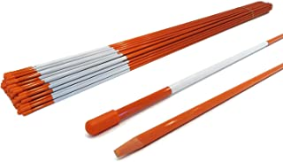 The ROP Shop |1/4 Inch (Pack of 20) Orange 48 Inch Reflective Driveway Markers, Snow Stakes Poles for Snow Plowing Driveways, Parking Lots, Walkways, Sidewalks