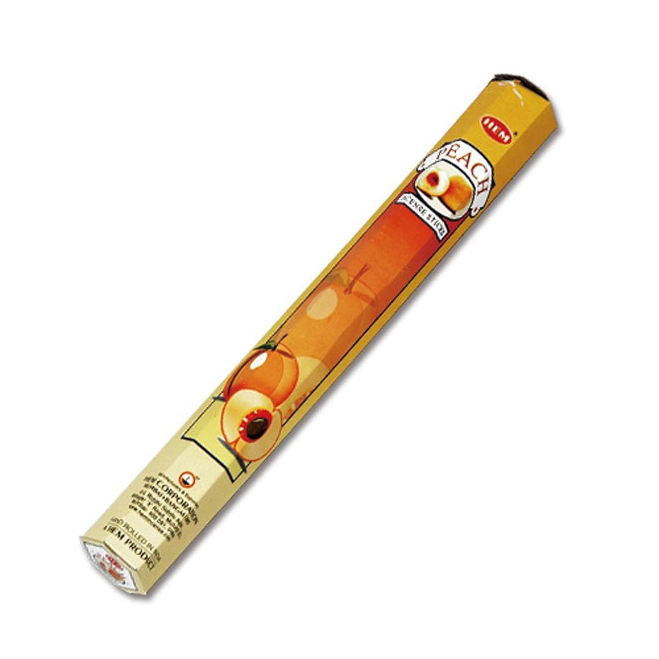 添付無声で稼ぐHEM(ヘム) ピーチ PEACHT スティックタイプ お香 1筒 単品 [並行輸入品]