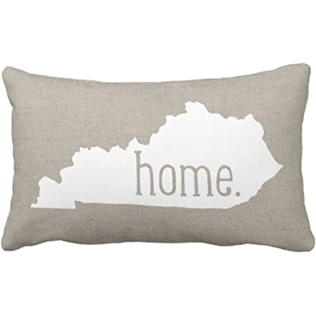 Emvency Throw Pillow Cover Kentucky Home State Decorative Pillow Case Love Home Decor Rectangle Queen Size 20x30 Inch Cushion Pillowcase Home Kitchen