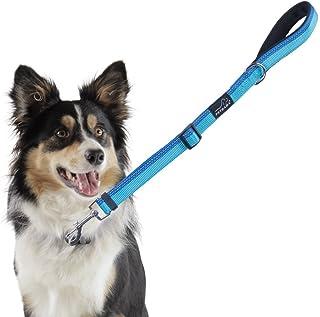 PETBABA(ペットババ) リード 犬 犬用短引き ショートリード 中大型犬対応 調節可能 反射素材 丈夫 手に優しい お散歩 お出かけ用 犬用品 (45-60cm, ブルー)