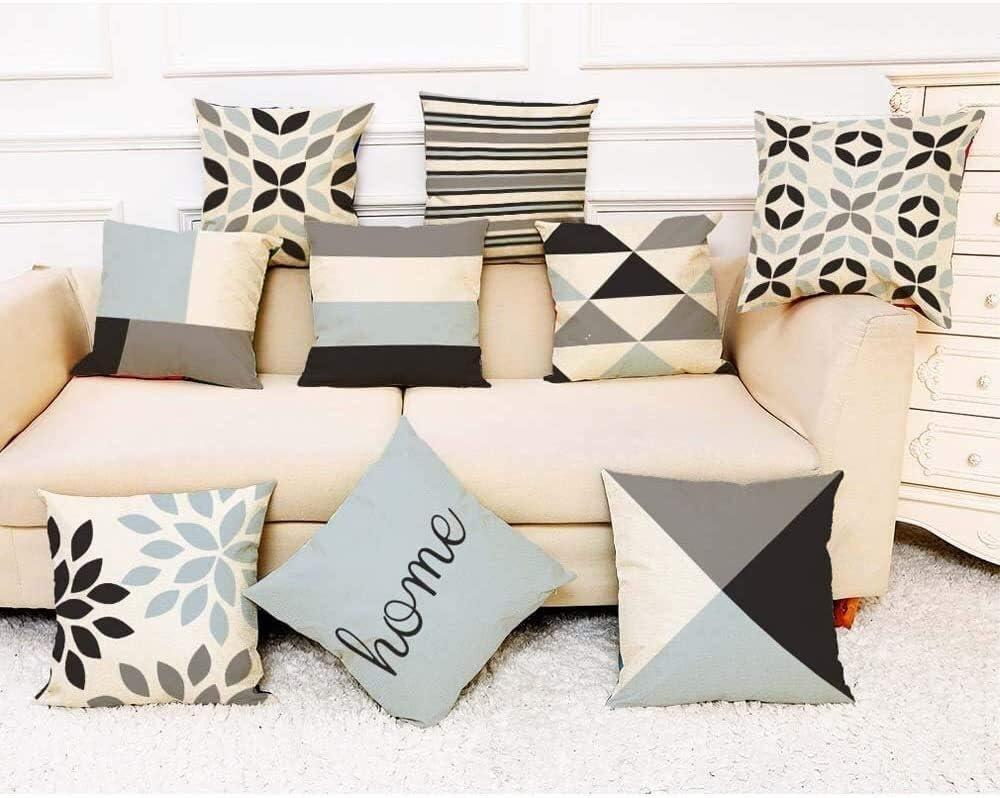 HUANGSHAM Jardin extérieur Coussin Scatter, 45cm Throw géométrique Coussin DÉHOUSSABLE décoratif for Pillowcases Chaise Canapé Patio Sofa Coussin de Jardin (Color : F) I