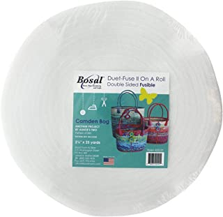 Bosal Foam & Fiber 4252B-25 Duet Fuse II Double Sided Batting Camden Bag Precut Fusible, White