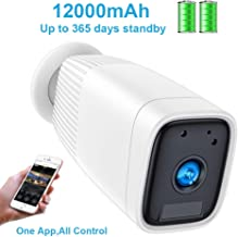 $79 » Wireless Rechargeable Battery Camera,FUVISION 1080P Outdoor Security CCTV Camera System,Motion Detect,Night Vision,IP66 Waterrproof,12000mAh Battery,2-Way Audio Wire-Free Security IP Camera (White)