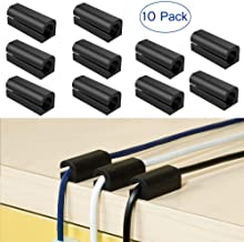 FOMTOR Cable Holder Desk Cable Holder Cord Management Adhesive Cord Organizer for Charger Cord, Mouse Cable, USB Cable, Power Cords Network Cable Perfect for Desk,Wall,Car (Black,10 Pack)