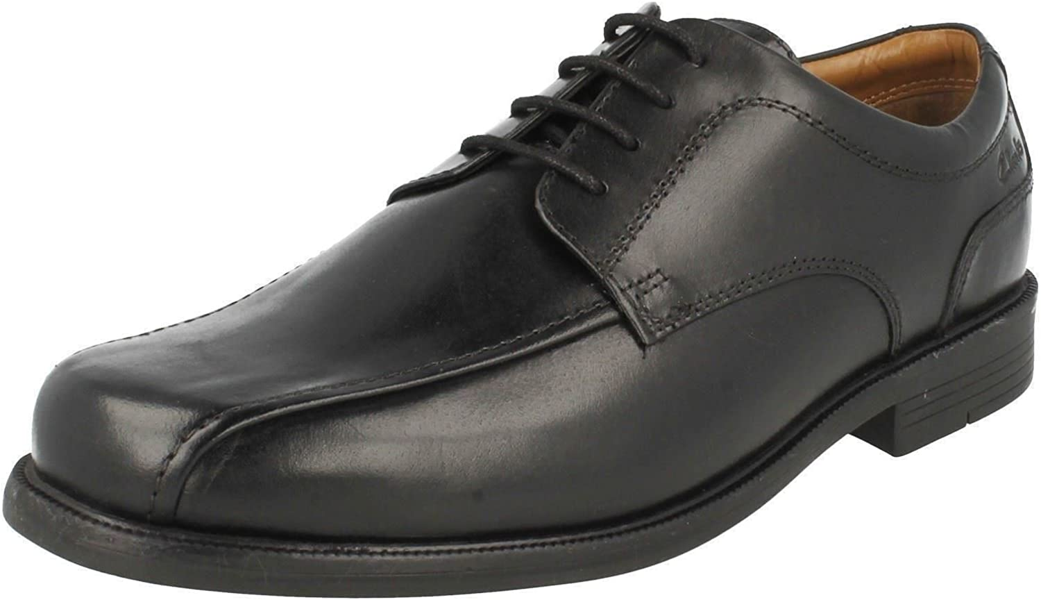 Clarks Men's Lace-Up Derby shoes Beeston Stride Black Leather