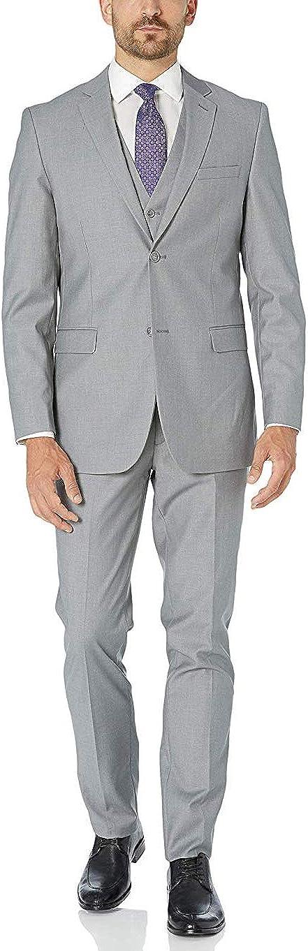 Adam Baker Men's 3-Piece Single Breasted Slim Fit Suit & Tuxedo - Colors