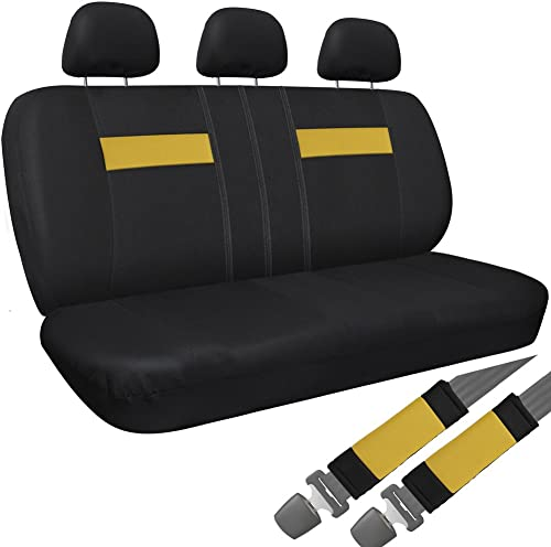 lowest OxGord Cloth sale Mesh Bench Seat Covers Universal Fit for Car, Truck, SUV, online Van - Yellow sale