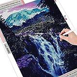5D DIY diamante pintura cascada artesanías cuadrado completo bordado de diamantes paisaje punto de cruz montaña decoración del hogar A1 40x50cm