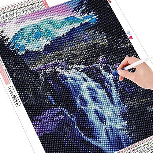 5D DIY diamante pintura cascada artesanías cuadrado completo bordado de diamantes paisaje punto de cruz montaña decoración del hogar A10 50x70cm