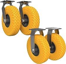 2 x Bestuurbare zwenkwiel, 2 x Niet-bestuurbare Caster met polyurethaan wiel Ø 260 mm 3.00-4, PUNCTURE PROOF