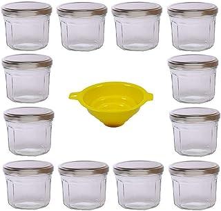comprar comparacion Viva Haushaltswaren G1300240/12T/silber/X - Lote de 12 tarros de Mermelada (240 ml Tapa Plateada Aspecto aristado Embudo A...
