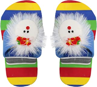 AASA Slippers Flip Flop Indoor Outdoor Foot Wear Daily-Use Washable Chappals for Girls and Boys (Multicolor, Size-9)