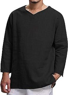 Camisa Manga Larga Hombre Casual Camisetas Blusa Tops