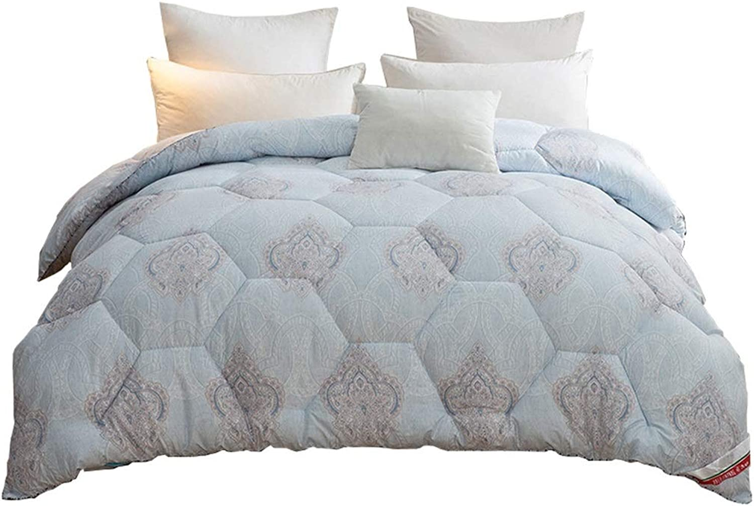 Quilt Thicken Warm and Soft for All Season All-Season Quilted Comforte Rhypoallergenic 100% Cotton Fabrics Quilted Comforter with Corner Tabs (Size   200cmX230cm 2kg)